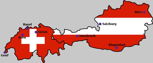 ausztria térkép klagenfurt Fájl:Euro2008 ausztria svajc terkep.png – Wikipédia ausztria térkép klagenfurt