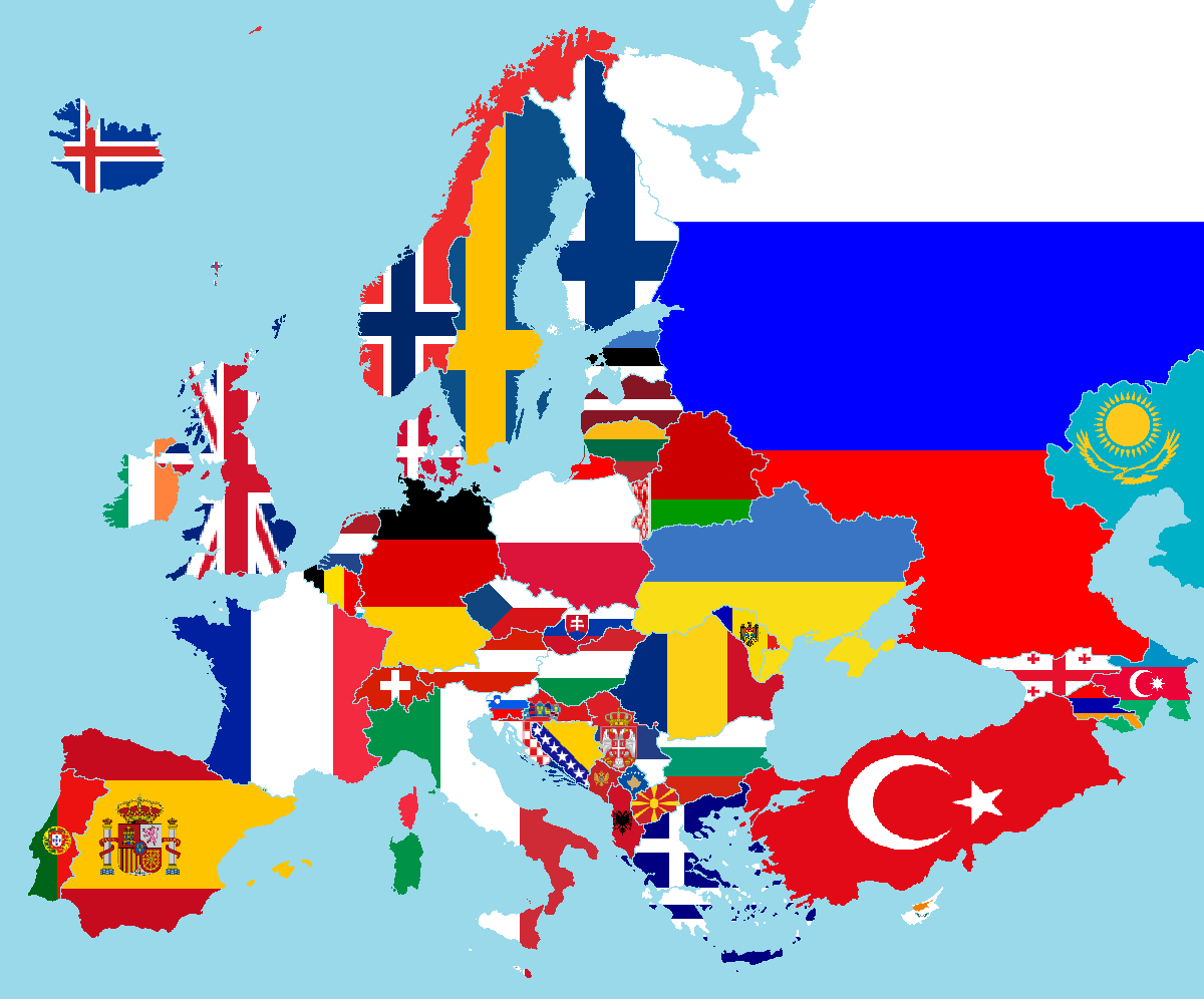 Description europe flags