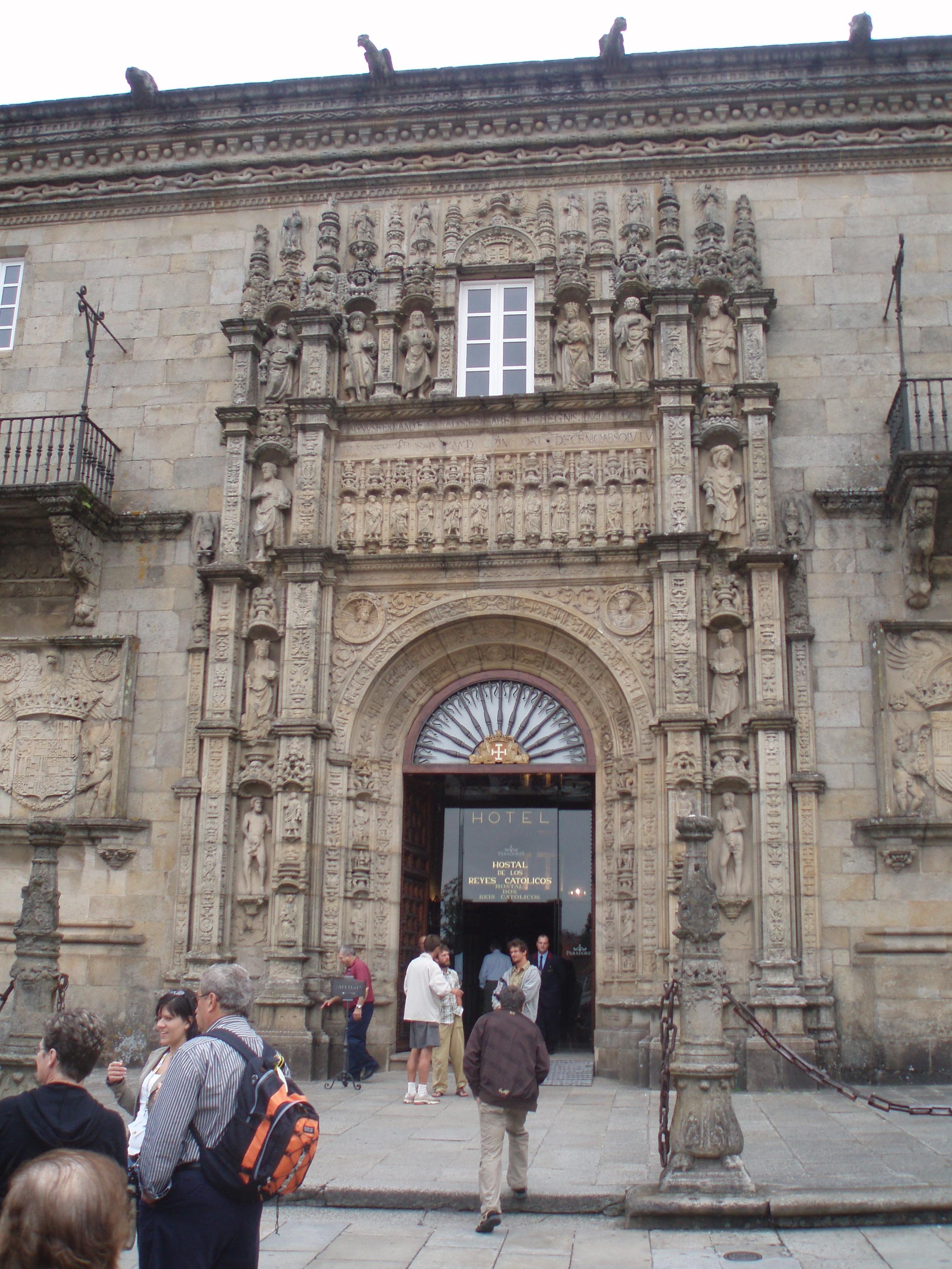 hostal reyes catolicos en santiago: