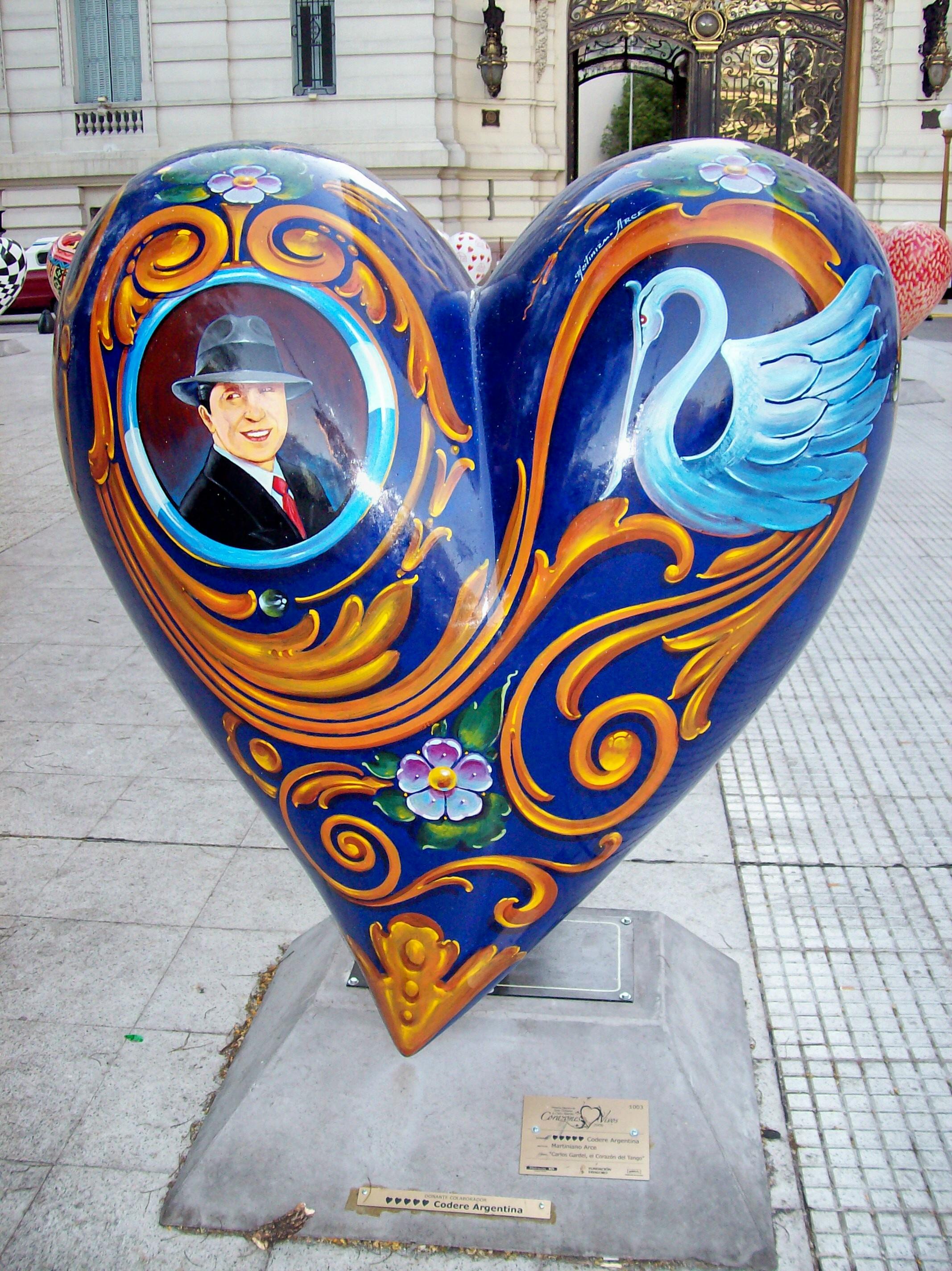 «Carlos Gardel, el corazón del tango», por el fileteador Martiniano Arce (2006).