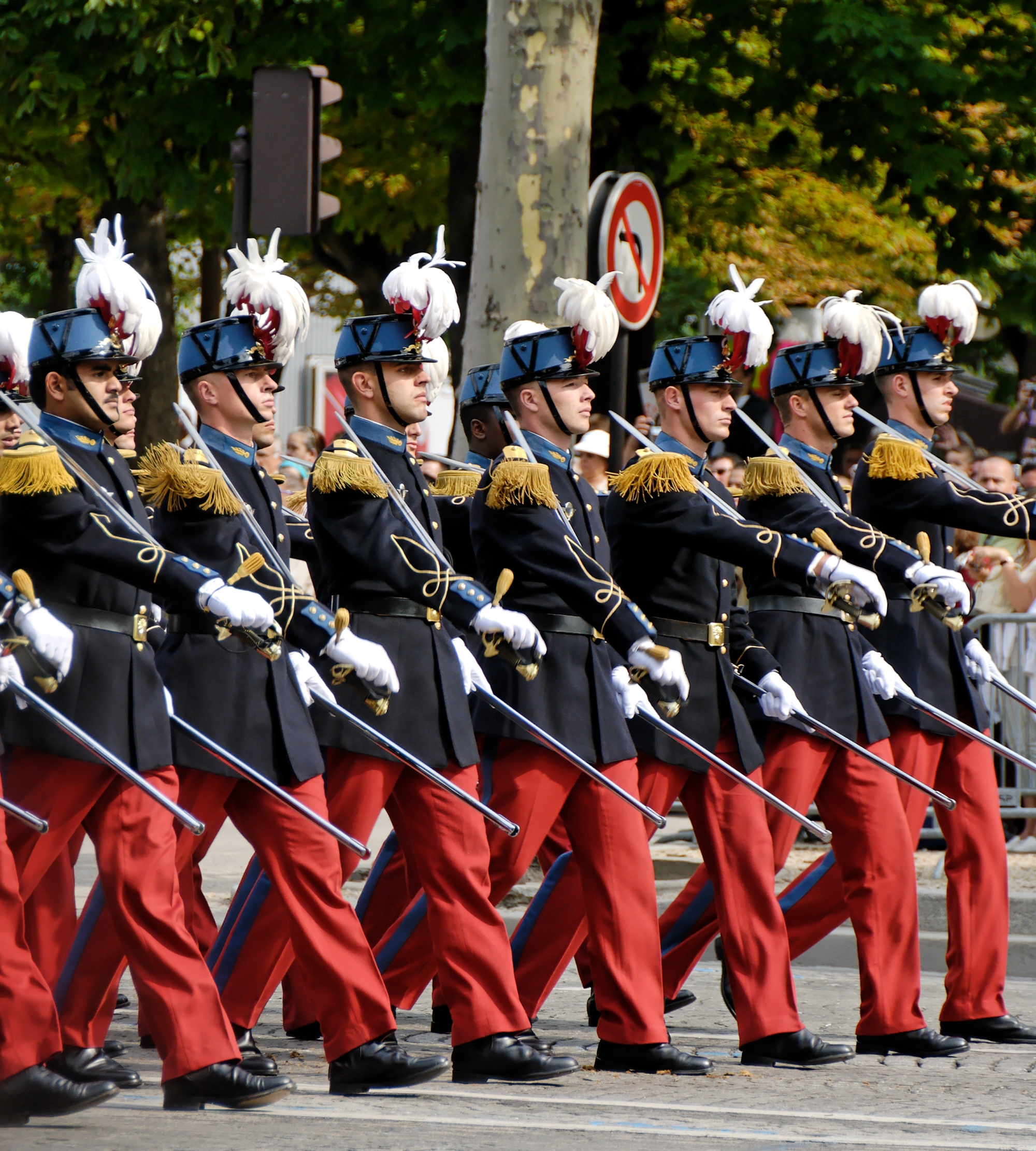 A battalion of the Saint-Cyr-Coëtquidan military academy