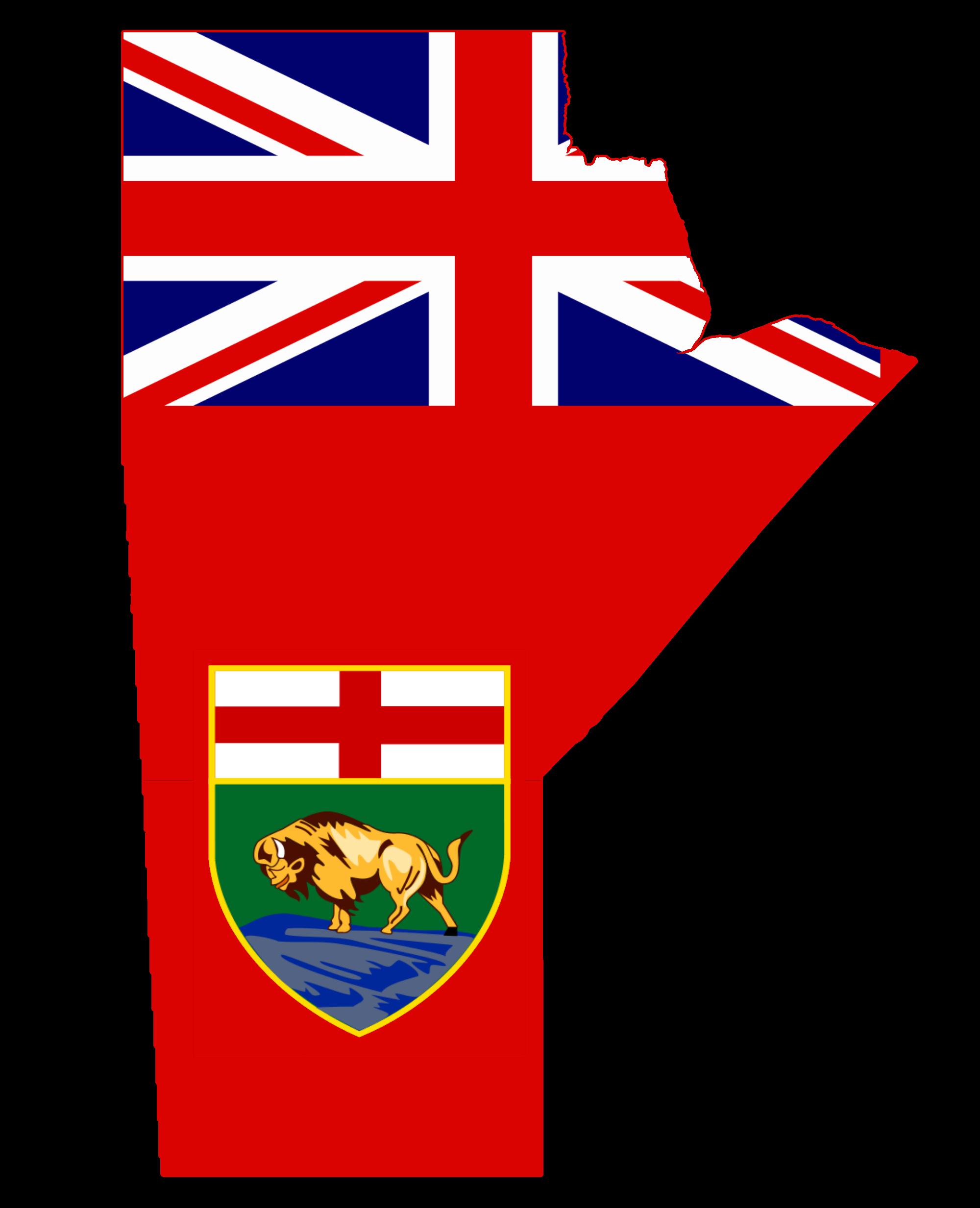 File Flag Map Of Manitoba Png