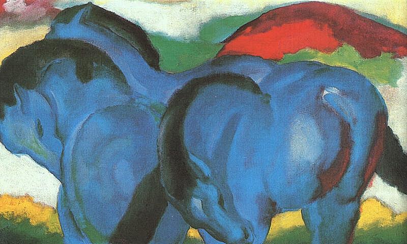Datei Franz Marc Die Kleinen Blauen Pferde Jpg Wikipedia
