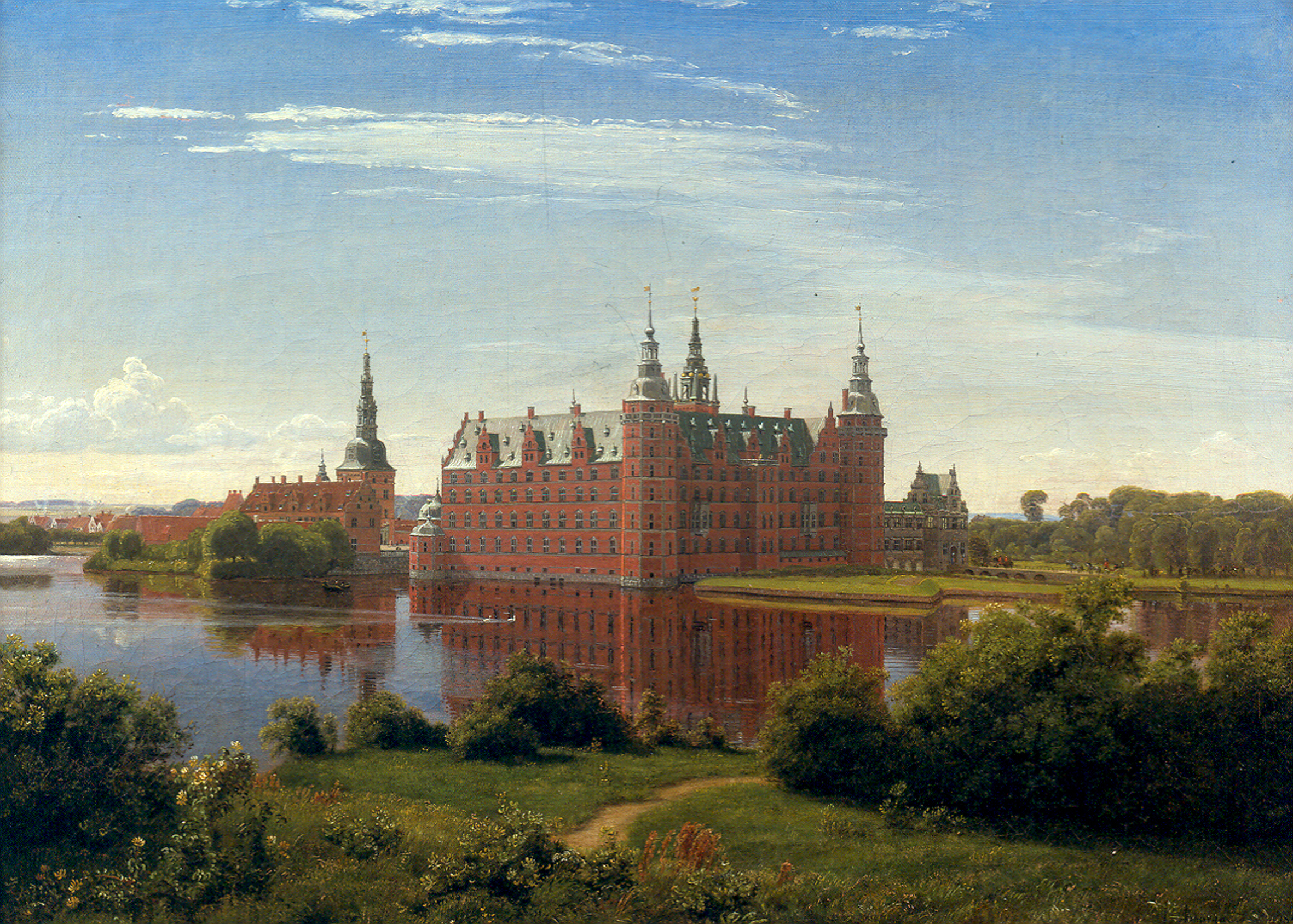The museum of national history at frederiksborg castle copenhagen - File Frederiksborg 1841 By P C Skovgaard Jpg