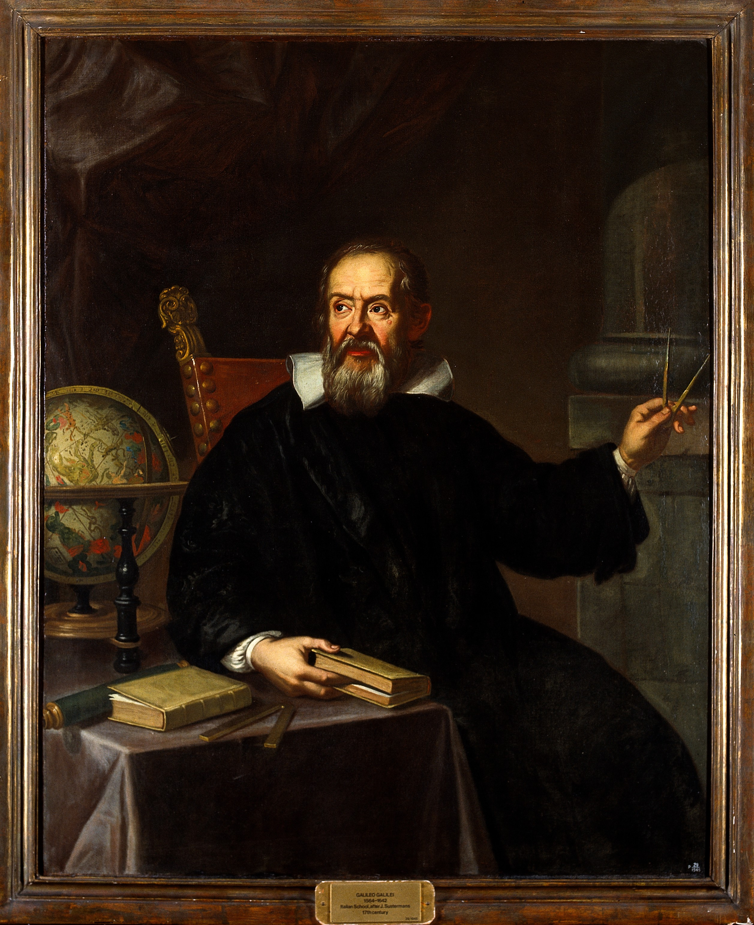 File:Galileo Galilei (1564-1642). Oil painting by an Italian pain