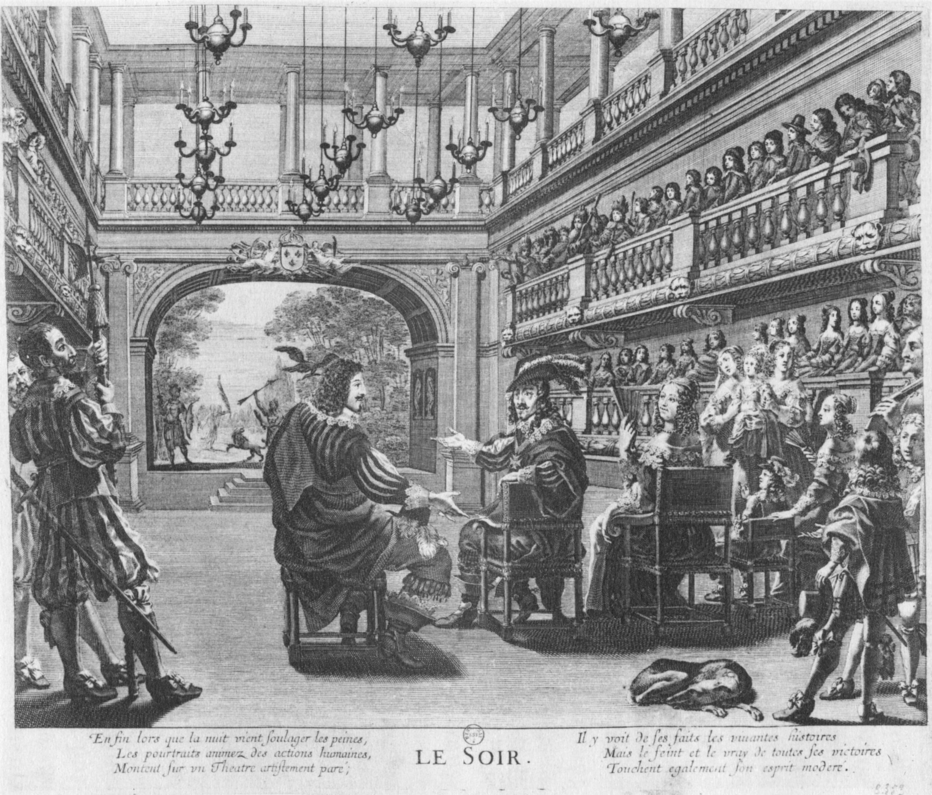 File Grande Salle Du Palais Cardinal C1642 Engraving Le