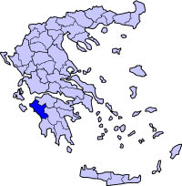 Location of Elis Prefecture in Greece