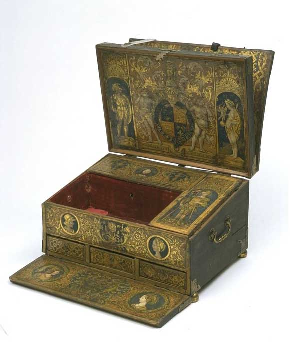 Henry VIII Cuir de Cordoue writing box