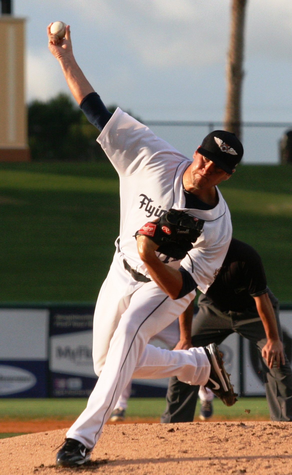 Ferrell pitching for the [[Lakeland Flying Tigers]] in 2013