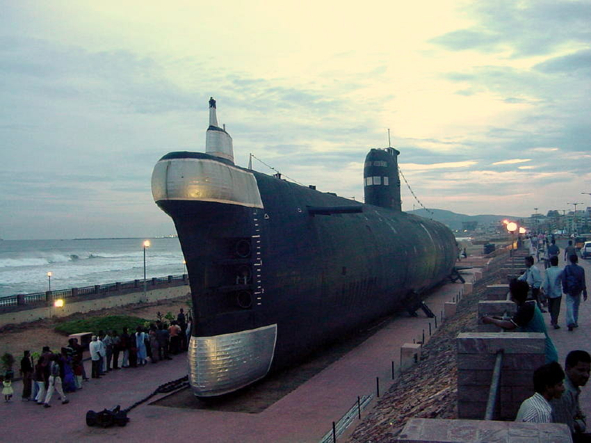 Kurusura Submarine Museum at Visakhapatnam, Andhra Pradesh, India