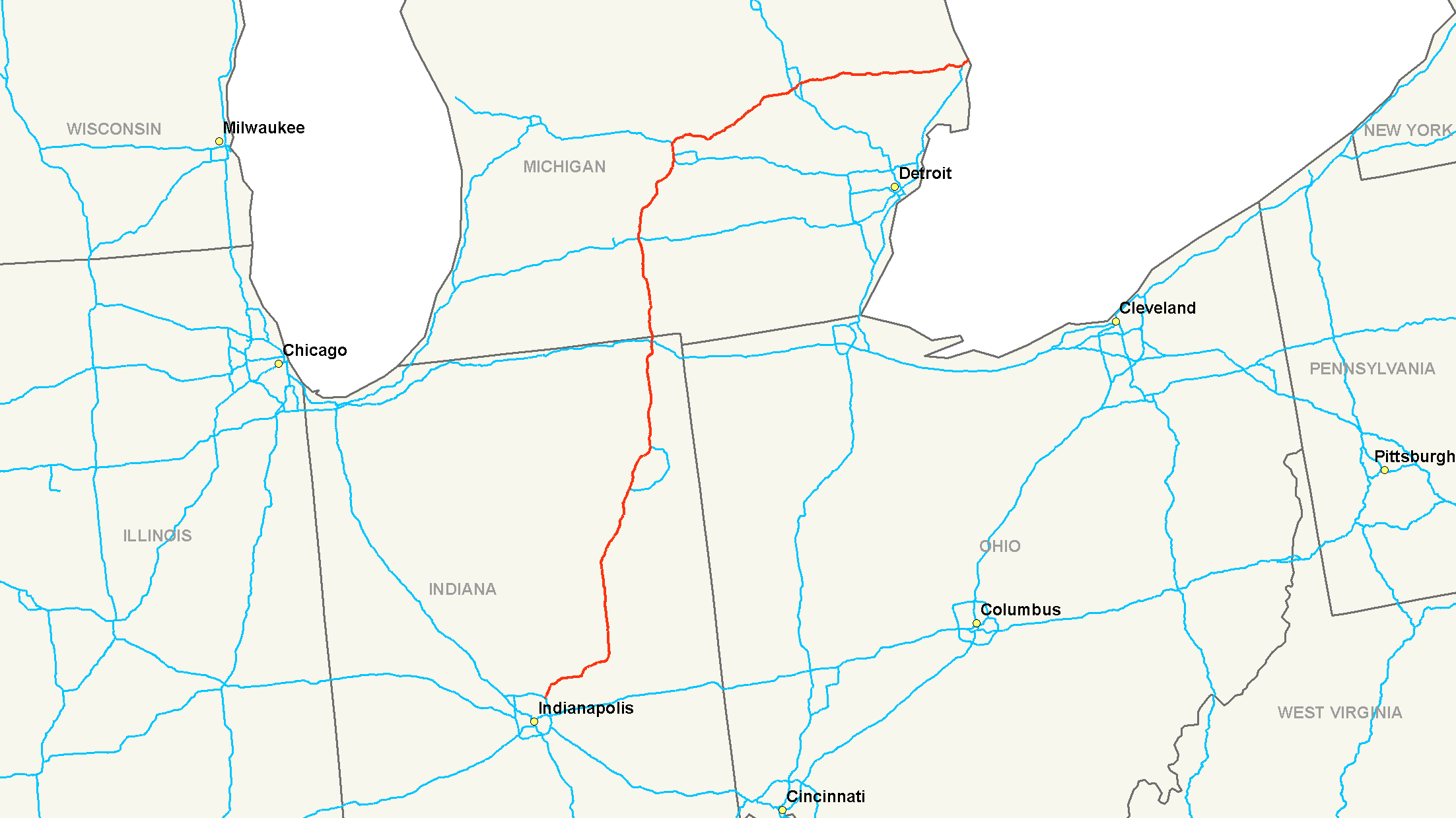 List of Synonyms and Antonyms of the Word Interstate 69 Map