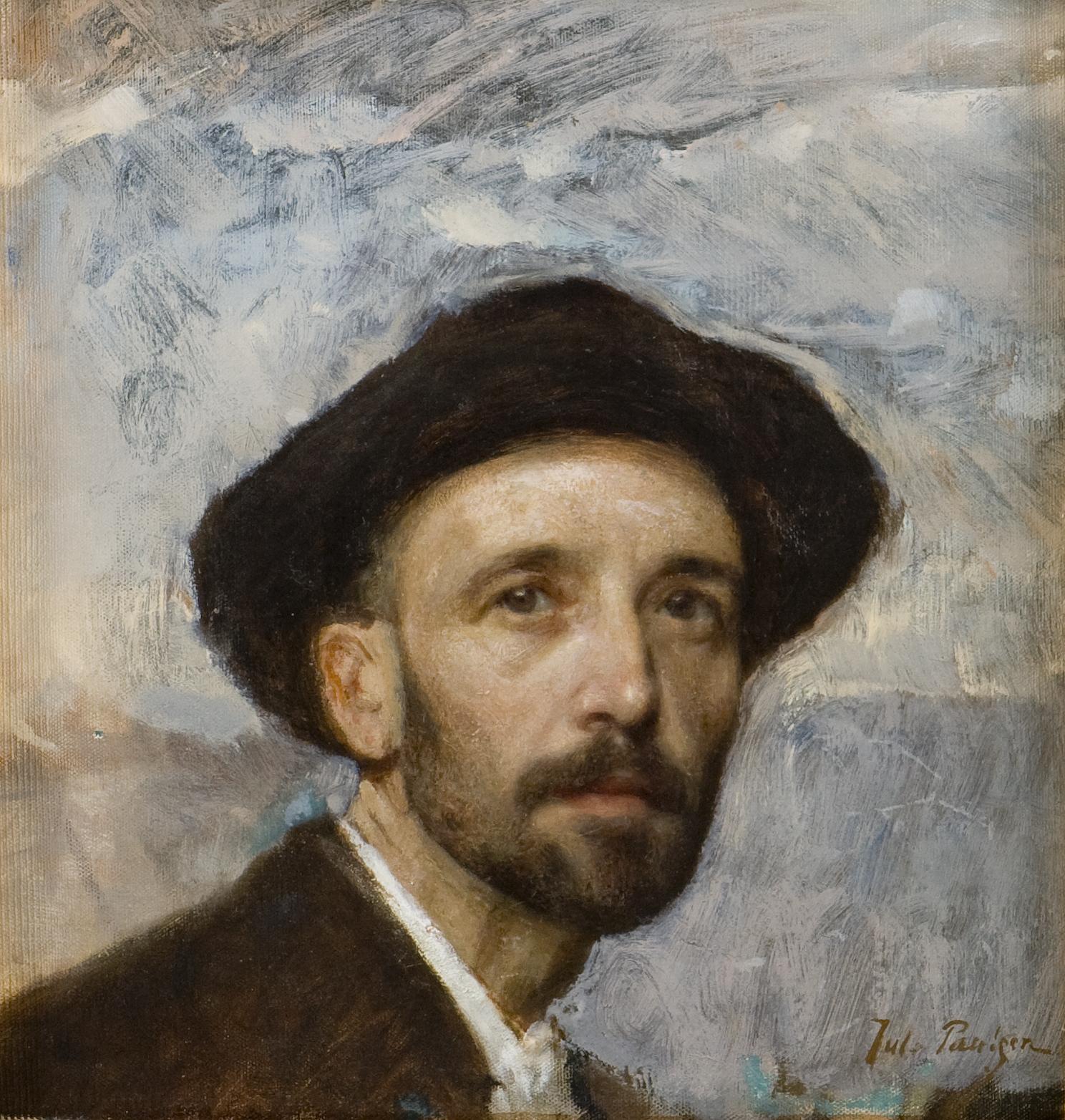 File:Julius Paulsen - Self-portrait with soft hat, 1900 ...