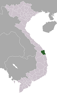 Location of Quảng Ngãi Province