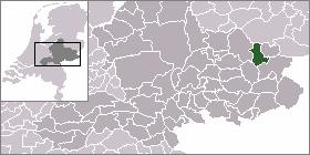 Borculo Place in Gelderland, Netherlands