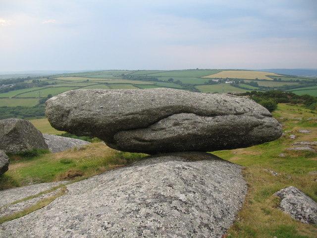 Logan Rock at Helman Tor - geograph.org.uk - 196582