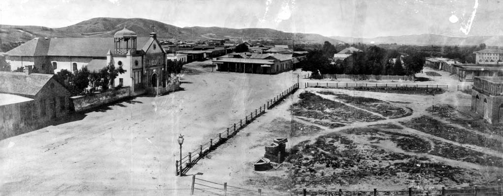 The old city plaza, 1869