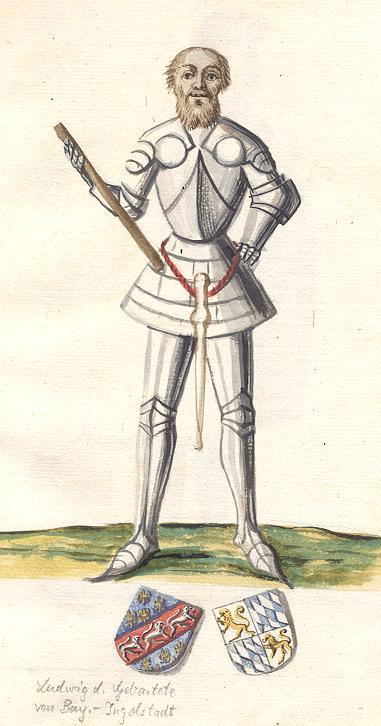 Herzog Ludwig VII. - Aquarell aus dem 18. Jhd.
