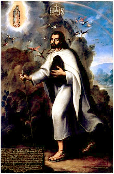 Image result for as canonized in 2002, under the name Saint Juan Diego Cuauhtlatoatzin.