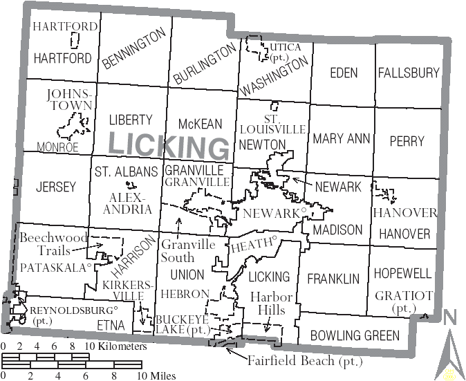 File Map Of Licking County Ohio With Municipal And Township Labels