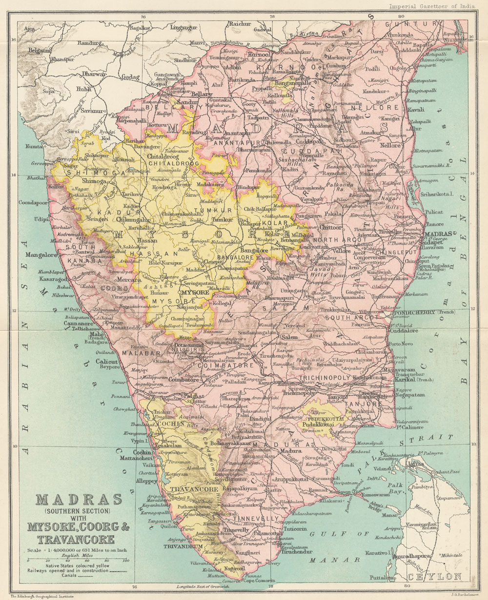 FileMap of Madras Southern section with Mysore Coorg and