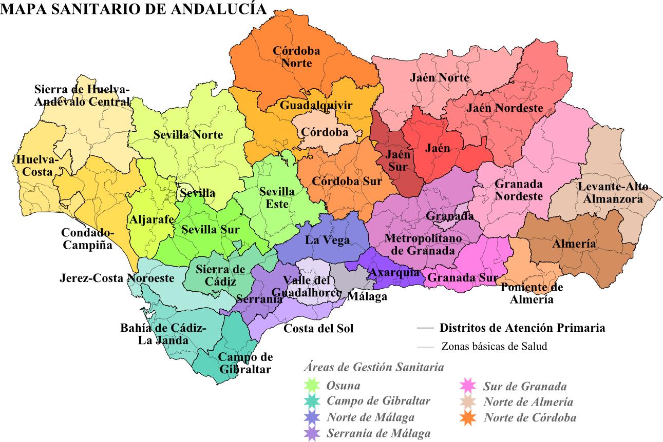 Costa De Granada Mapa.File Mapa Sanitario De Andalucia Png Wikimedia Commons