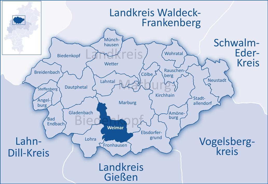 Karte Weimar Und Umgebung.Weimar Lahn Wikipedia