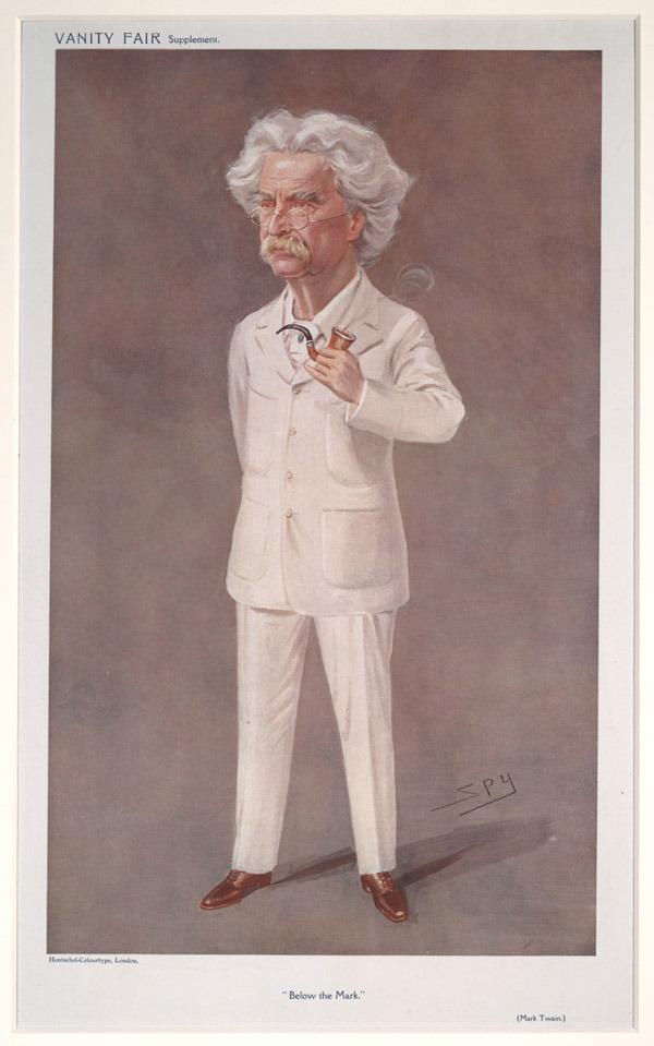 Văn hào người Mỹ Mark Twain tranh vẽ