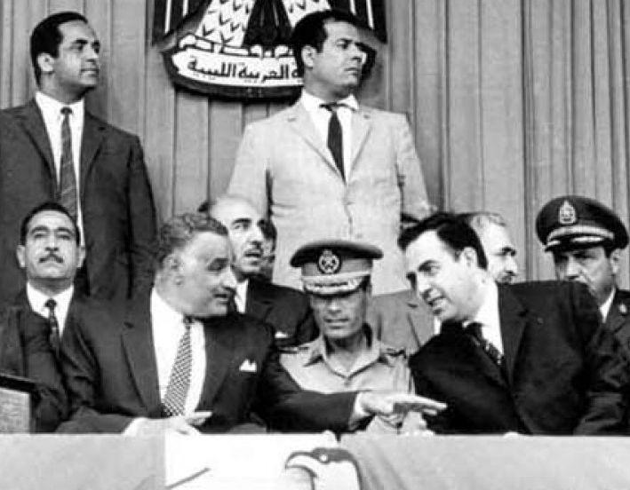 Nasser Qaddafi Atassi 1969.jpg