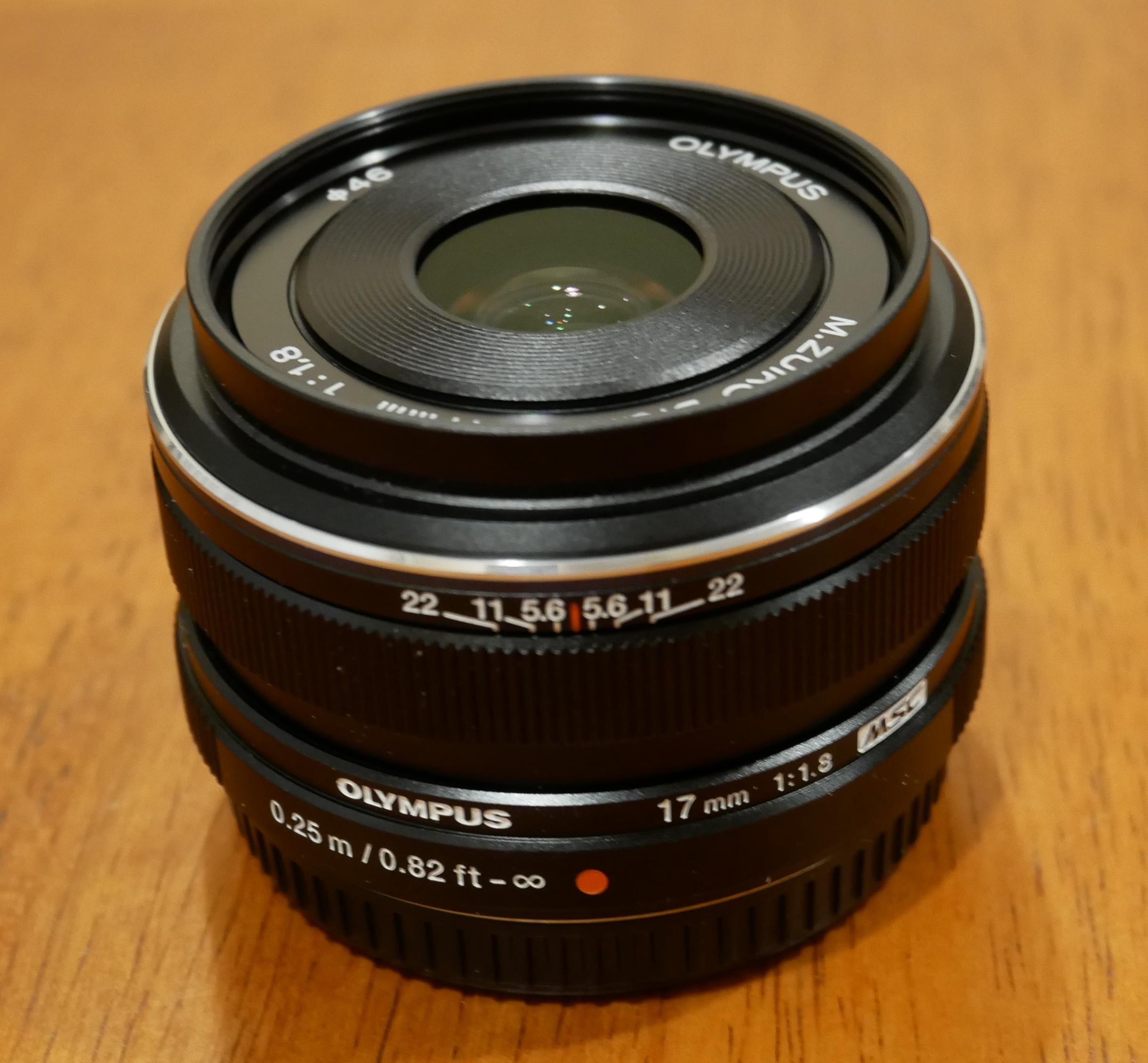Olympus Digital Camera M.ZUIKO DIGITAL 17mm F1.8 Lens 64x