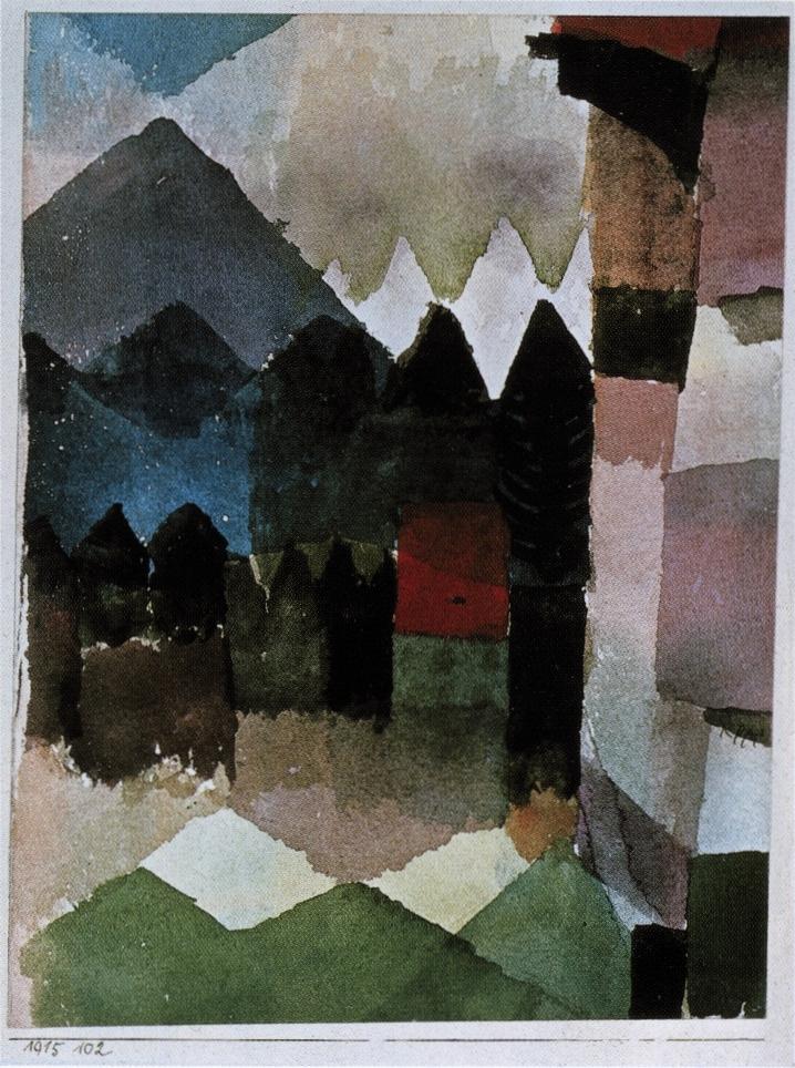 Filepaul Klee Föhn Im Marcschen Garten 1915jpg Wikimedia Commons