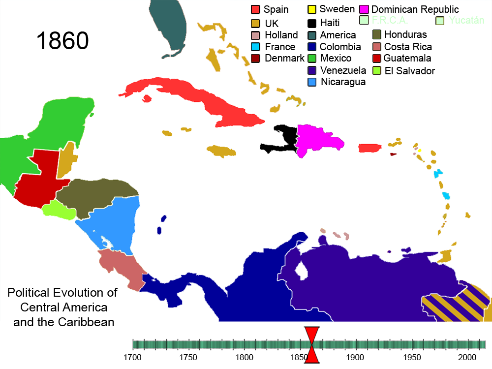 File:Political Evolution of Central America and the Caribbean 1860 ...