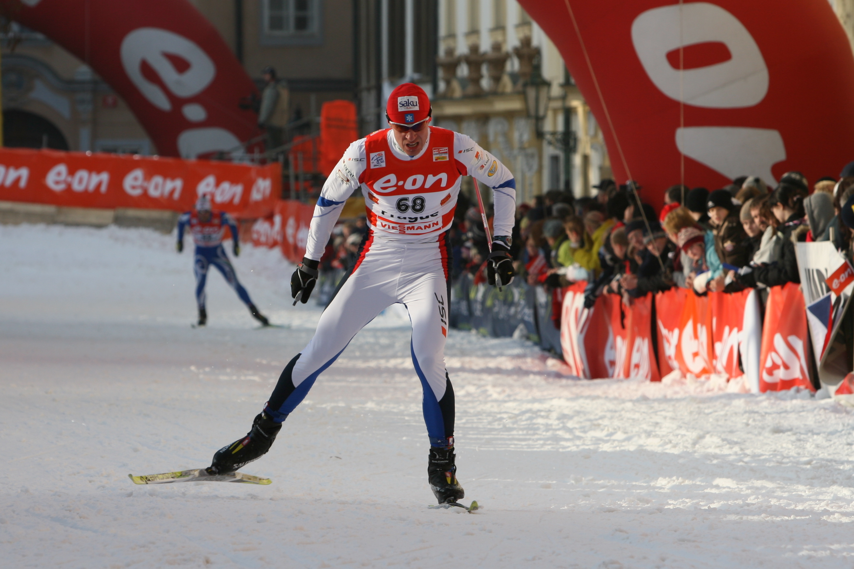 Priit Narusk in the qualification for the Tour de Ski in Prague.