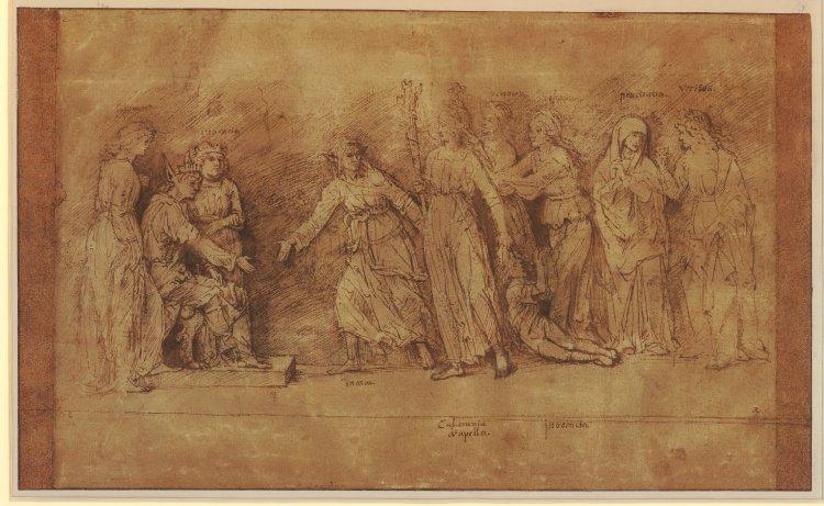 File Rembrandt The Calumny Of Apelles After Mantegna Jpg