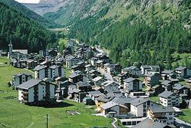 Saas-Almagell Municipality in Switzerland in Valais