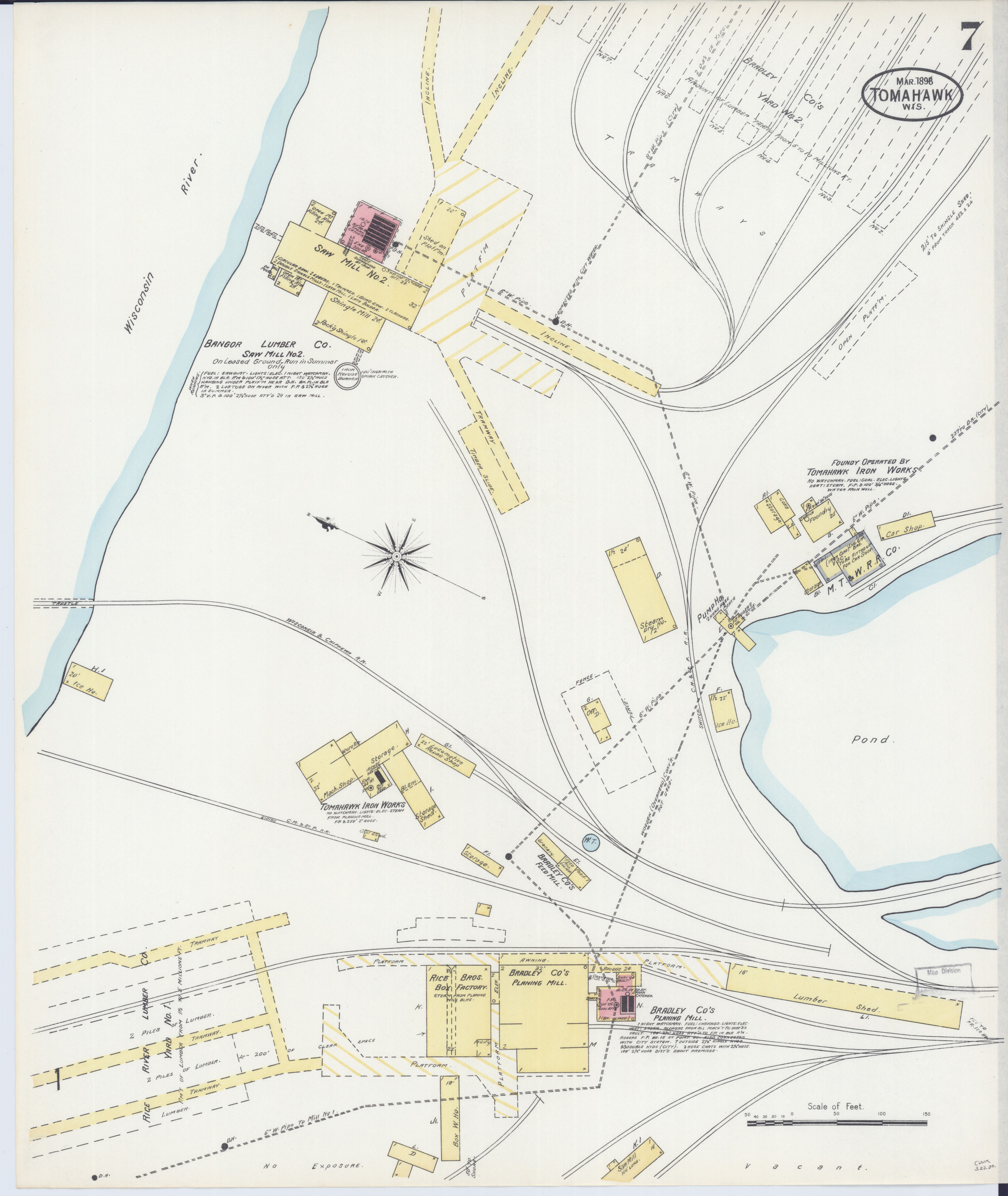 Tomahawk Wisconsin Map.File Sanborn Fire Insurance Map From Tomahawk Lincoln County