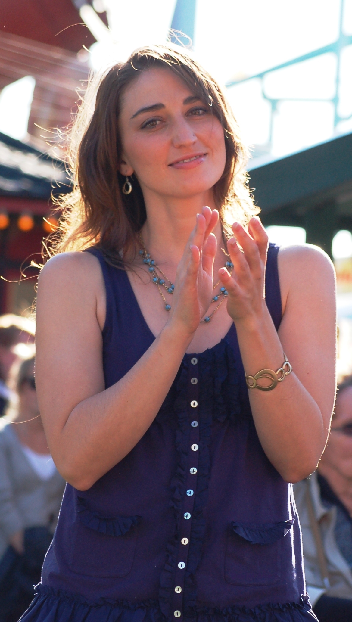 The 38-year old daughter of father Paul Bareilles and mother Bonnie Halvorsen Sara Bareilles in 2018 photo. Sara Bareilles earned a  million dollar salary - leaving the net worth at 12 million in 2018