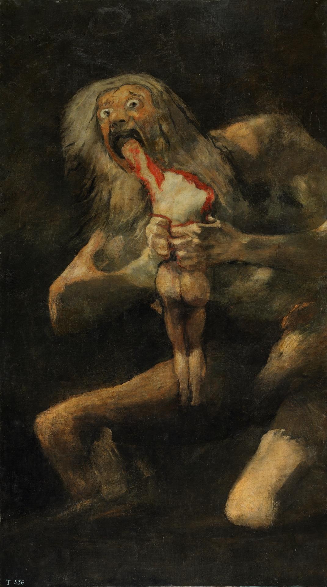 Saturn Devouring His Son by Francisco de Goya y Lucientes
