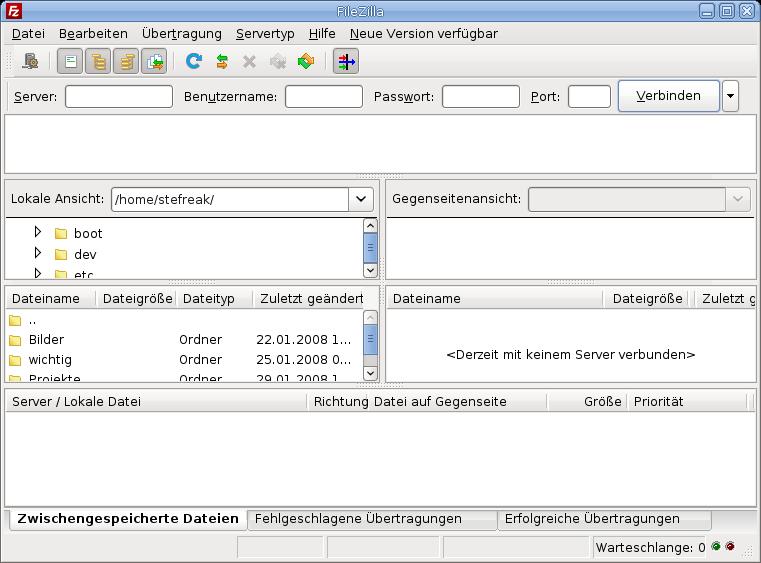 Linux - Equivalencias de Windows en Linux [Parte 2] Screenshot-FileZilla-Linux