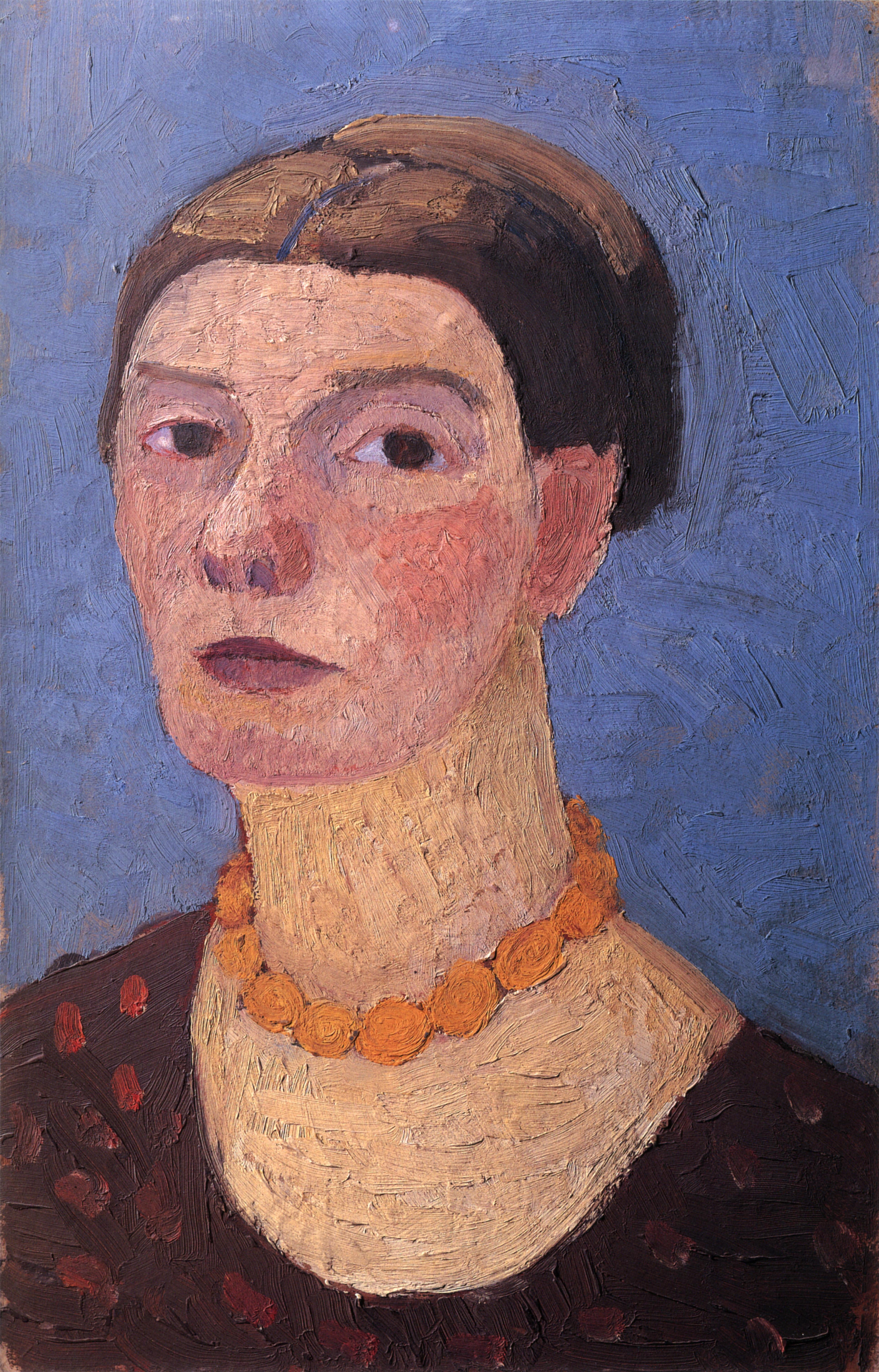 File Self Portrait By Paula Modersohn Becker Wikimedia Mons