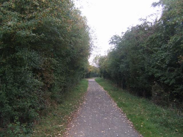 Shropshire Way on the former Shrewsbury Canal - geograph.org.uk - 1504795