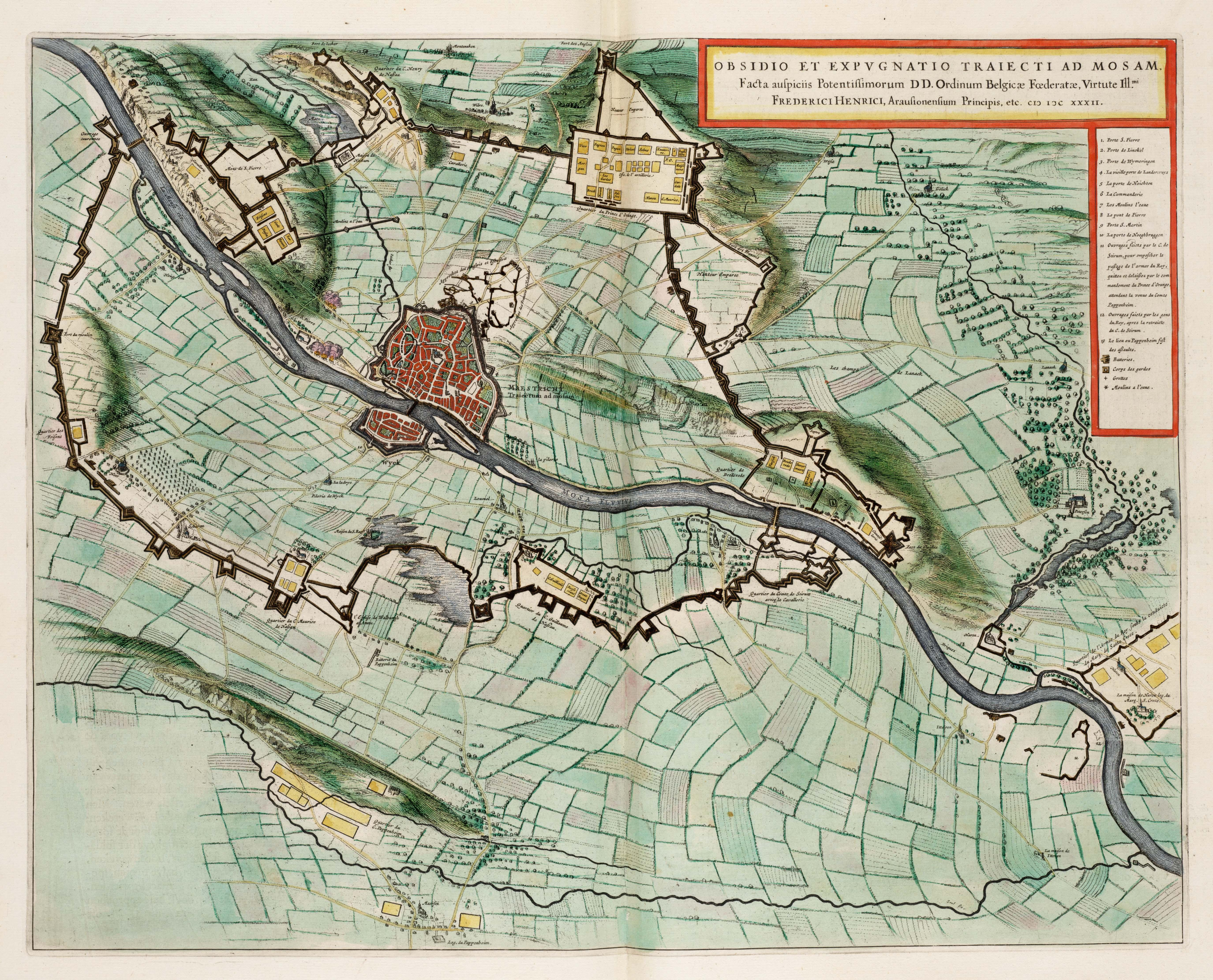 Файл:Siege of Maastricht by Frederick Henry in 1632 - Obsidio et Expugnatio  Traiecti ad