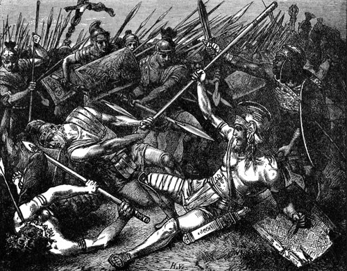 مرگ اسپارتاکوس ، توسط هرمان وگل