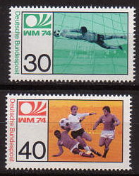 Stamp football WC 1974 deutsche bundespost