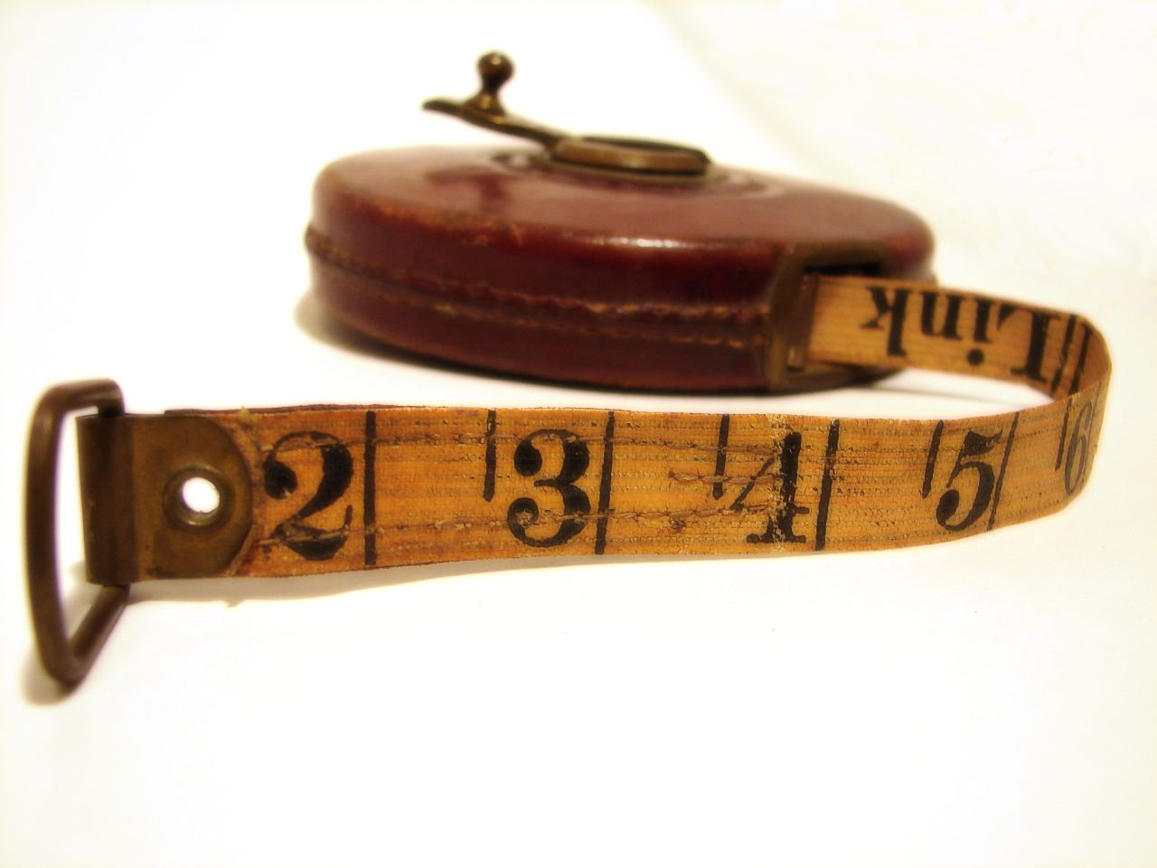 Photo of an old tape measure