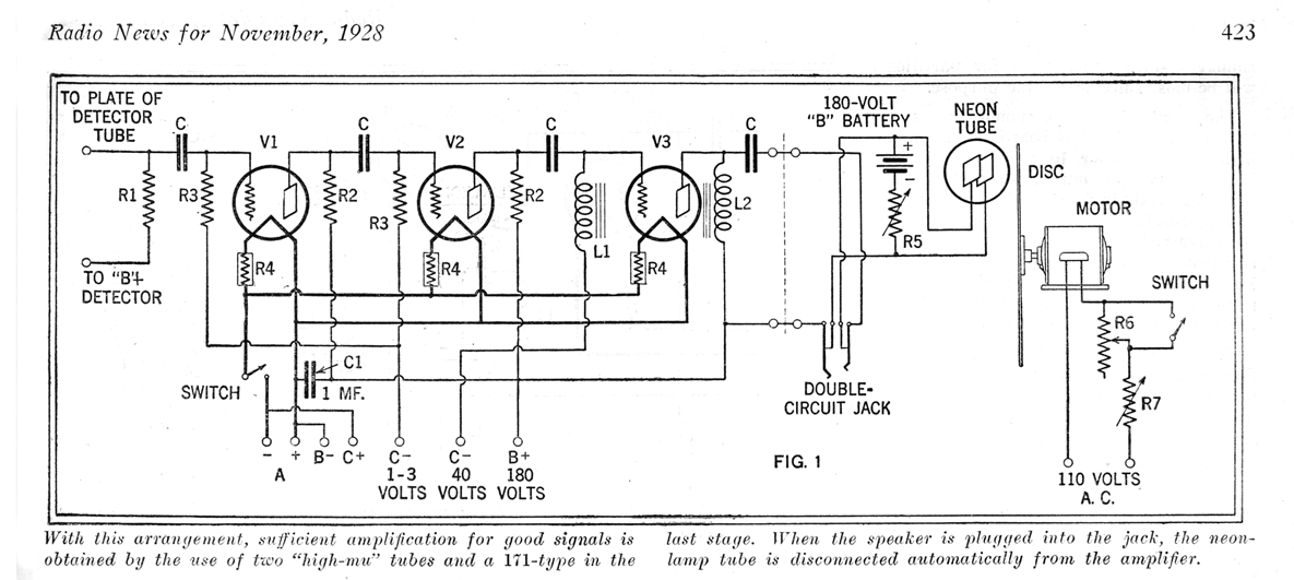 File Television Schematic 1928 on vintage radio schematics