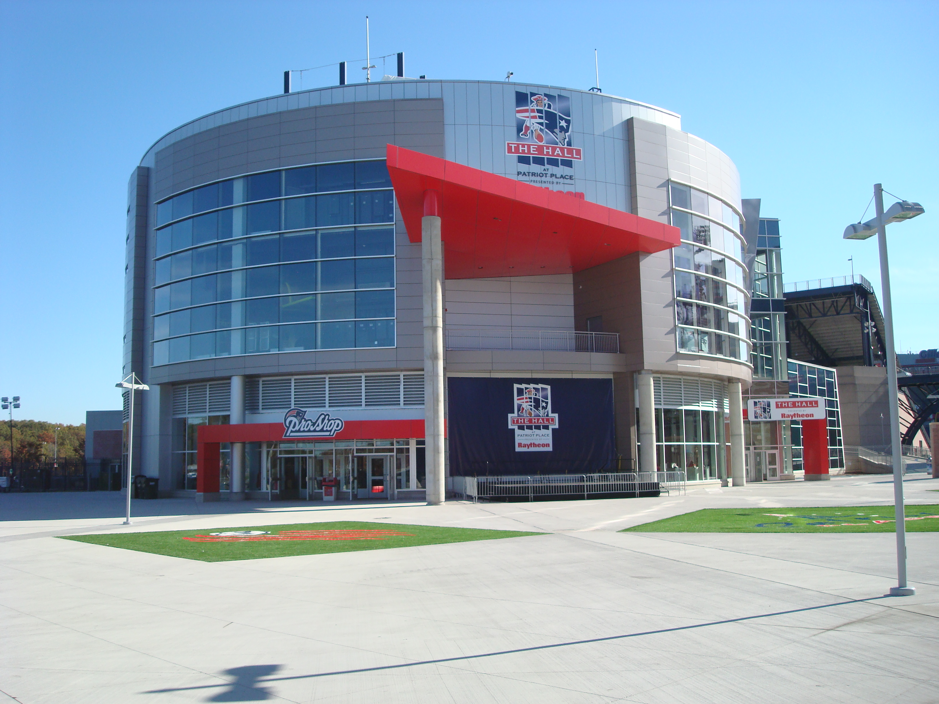 The hall at patriot place at gillette stadium in foxboro massachusetts