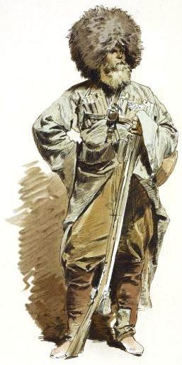 File:Theodor Horschelt. Okhotnik kabardinskago polka.jpg ...