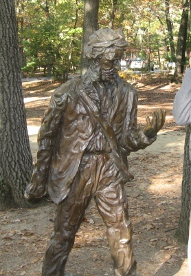 Henri Thoreau Memorial near his house in Walden