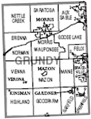 Townships im Grundy County