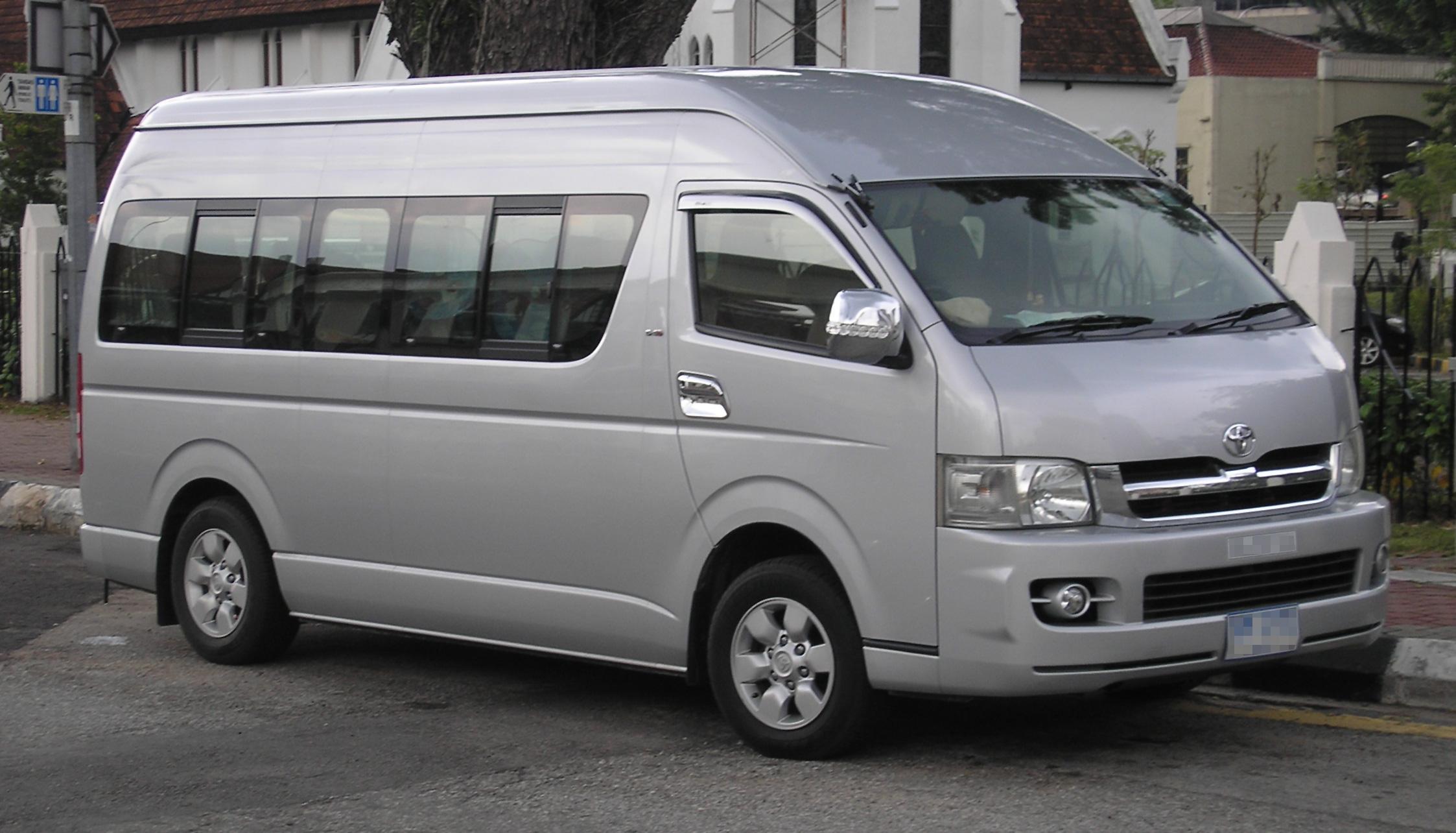 Nissan Work Van >> File:Toyota Hiace (fifth generation) (Grand Cabin) (front), Kuala Lumpur.jpg - Wikimedia Commons